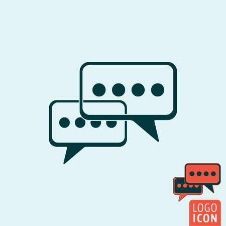 chat icon chat: Chat icon. Chat symbol. Speech bubbles icon isolated, minimal design. Vector illustration Illustration