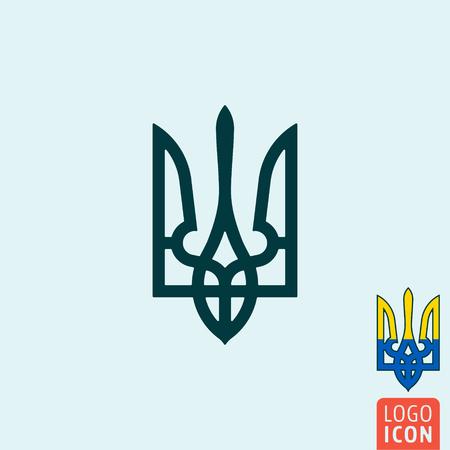 Trident Icon Trident Symbol Ukraine Coat Of Arms Isolated
