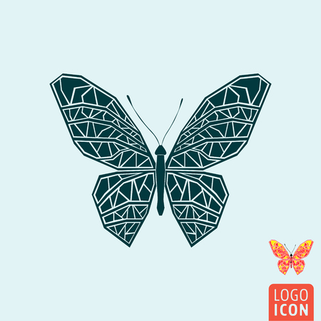butterfly isolated: Butterfly icon. Butterfly symbol. Butterfly isolated, icon minimal design. Vector illustration