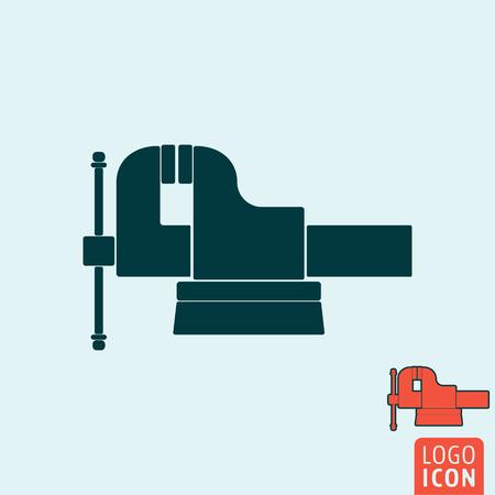 icono de vicio. símbolo de vicio. aislado mandíbula vice icono, diseño minimalista. ilustración vectorial Ilustración de vector