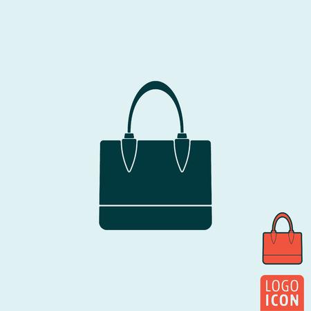 simbolo de la mujer: Handbag icon. Handbag symbol. Women bag icon isolated. Vector illustration