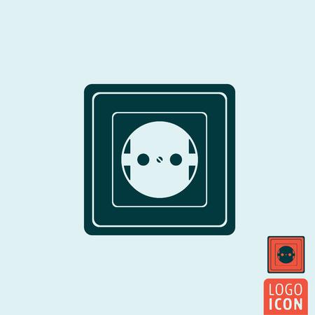 wall socket: Power socket icon. Power socket symbol. Wall socket icon isolated. Vector illustration