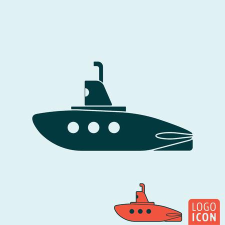 periscope: Submarine icon. Submarine symbol. Submarine with periscope icon isolated. Vector illustration