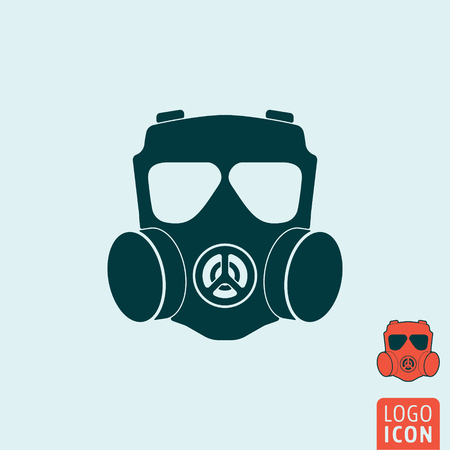 respirator: Gas mask icon. Gas mask symbol. Respirator icon isolated. Vector illustration