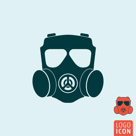 icono de máscara de gas. símbolo de la máscara de gas. el icono aislado respirador. ilustración vectorial