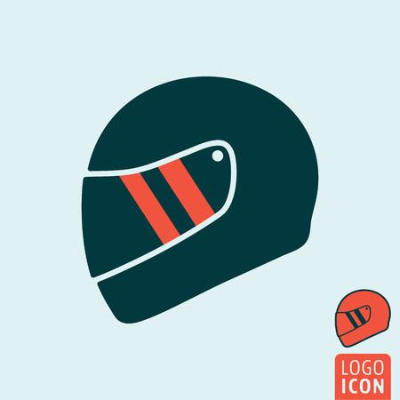 Helmet icon. Helmet symbol. Motorcycle helmet icon isolated. Vector illustration