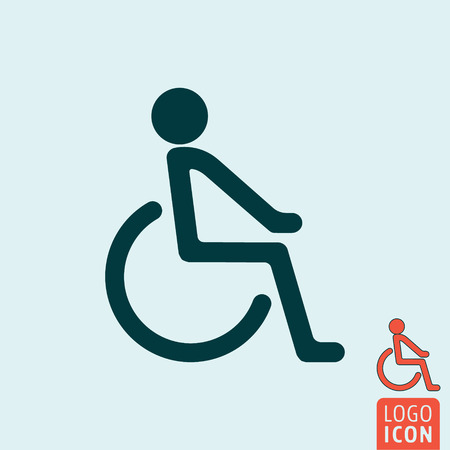 handicap: Disabled icon. Disabled handicap icon. Disability symbol. Vector illustration