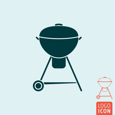 bbq ribs: Barbecue icon. BBQ symbol. BBQ grill isolated. Vector illustration