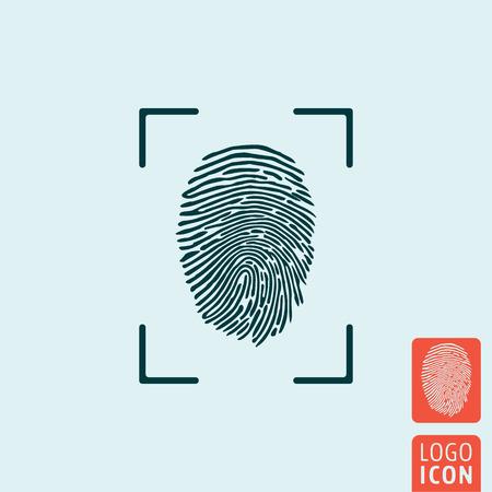 icono de huella digital. símbolo de la huella digital. aislado icono de la huella dactilar. ilustración vectorial logotipo. Logos