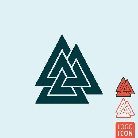 slain: Valknut icon. Valknut symbol. Knot of the Slain isolated. Vector illustration logo.