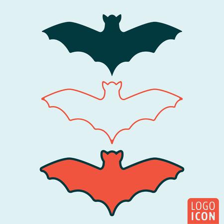 bate: icono de murciélago. Símbolo del murciélago. aislado murciélagos icono. ilustración vectorial logotipo.