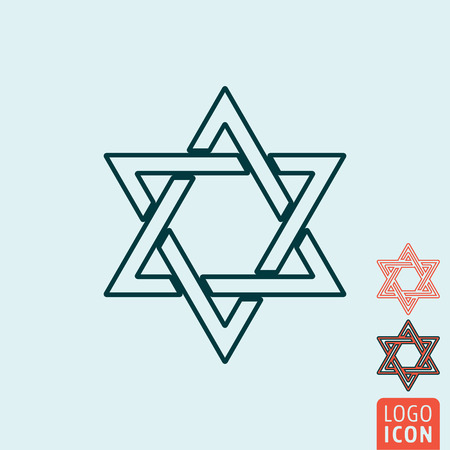 magen: Star of David icon. Star of David symbol. Magen David icon isolated. Vector illustration logo.