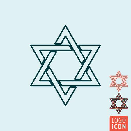 magen: Star of David icon. Star of David symbol. Magen David icon isolated. Vector illustration logo.