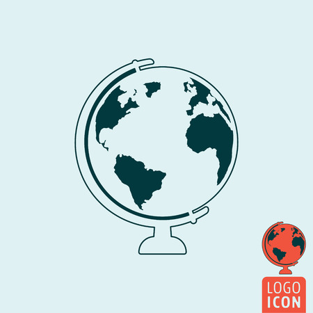 Planet earth icon world map globe symbol vector illustration earth icon earth symbol earth globe icon isolated vector illustration logo vector gumiabroncs Gallery