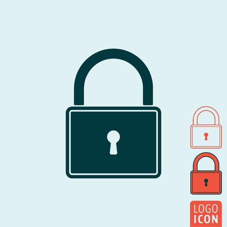 lock symbol: Lock icon. Lock symbol. Padlock icon isolated. Vector illustration logo. Illustration