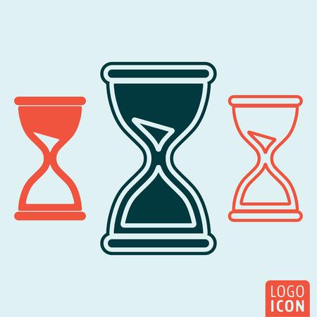 reloj de arena: icono de reloj de arena. símbolo de reloj de arena. aislado icono de reloj de arena. ilustración vectorial logotipo.