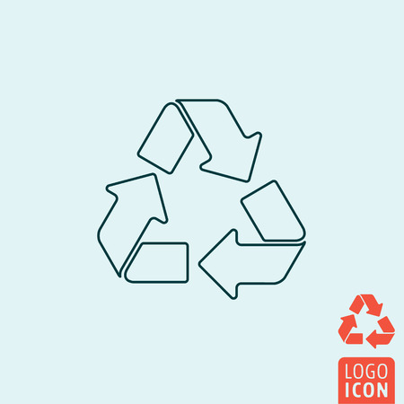 recycle logo: Recycle icon. Recycle logo. Recycle symbol. Recycle arrow icon isolated, minimal design. Vector illustration