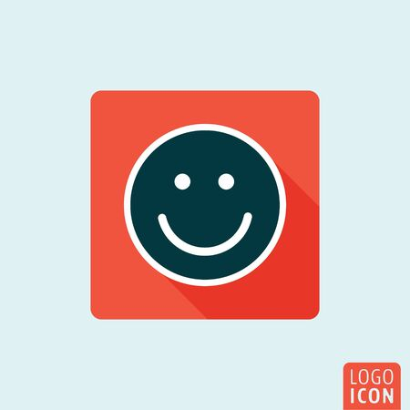 laughter: Smile icon. Laughter flat design symbol. Vector illustration Illustration