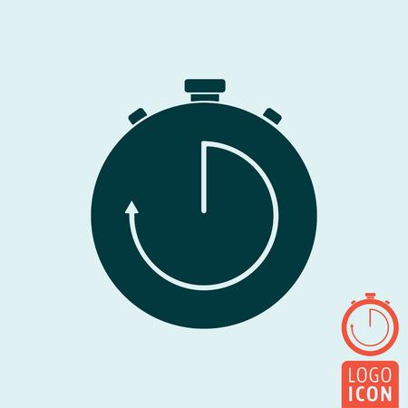 the interval: Stopwatch icon. Interval timer symbol. Vector illustration Illustration