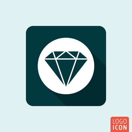 Diamond icon. Jewelry business symbol. Vector illustration Фото со стока - 55935933