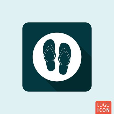 beach slippers: Flip flop icon. Beach slippers  symbol. Vector illustration Illustration