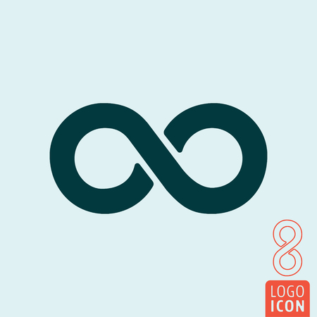 infinity icon: Infinity icon. limitless ribbon symbol. Vector illustration Illustration