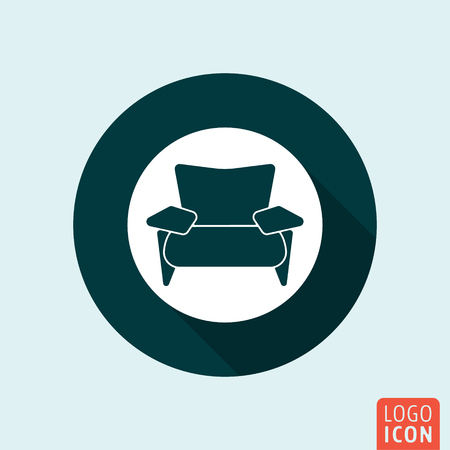 armchair: Armchair icon. Lounge zone symbol. Vector illustration