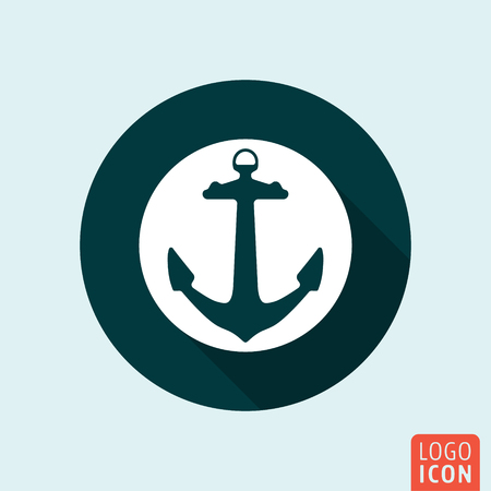 Ship Anchor Or Boat Anchor Flat Icon For Apps And Websites Royalty