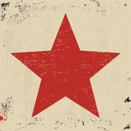 dirty t shirt: Grunge star. Red star on grunge texture background. Vector illustration