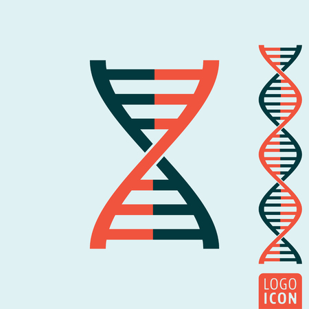 gene: Dna icon. Dna helix symbol. Gene icon. Vector illustration