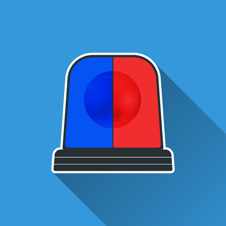 flasher: Flasher light icon. Special flasher of emergency, police, fire, ambulance department. Vector illustration