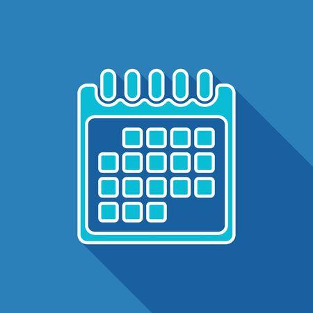 calendar page: Calendar flat icon. Calendar page symbol. Vector illustration