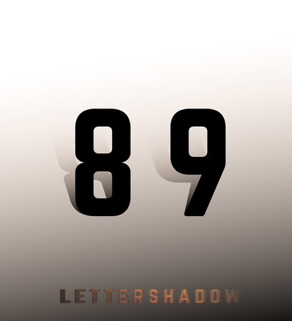 8 9: Number font template. Set of numbers 8, 9 logo or icon. Vector illustration. Illustration