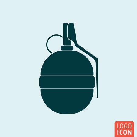 hand grenade: Grenade icon. Hand grenade isolated. Vector illustration