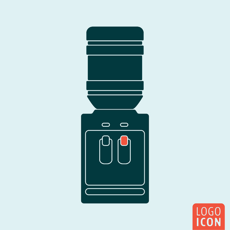 water cooler: Water cooler icon isolated. Office water dispenser symbol. Vector illustration