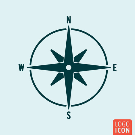 compass rose: Compass icon isolated. Wind rose symbol. Navigation symbol. Vector illustration
