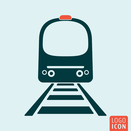metro train: Train icon isolated. High speed train. Metro train symbol. Vector illustration