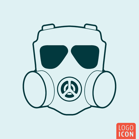 respirator: Respirator icon isolated. Chemical, gas mask symbol. Vector illustration Illustration