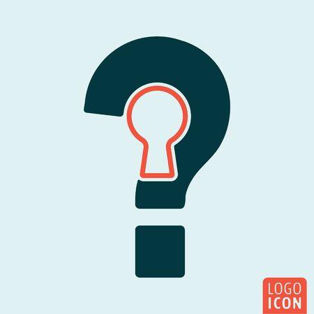 interrogation mark: Question mark icon. Interrogation sign with keyhole. Vector illustration