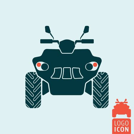 terrain: Quad bike icon. All terrain vehicle. Atv. Four wheeler. Vector illustration Illustration