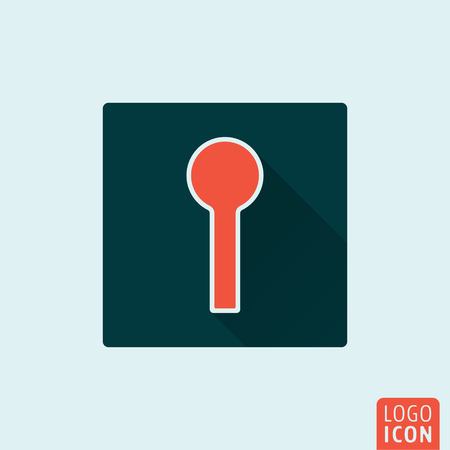 passkey: Keyhole icon. Hole for key flat design. Vector illustration Illustration