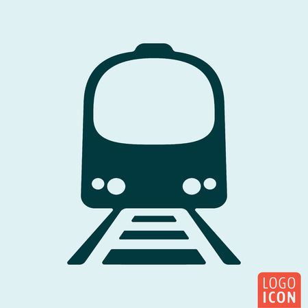 railway transportation: Train icon. Railway transportation symbol. Vector illustration