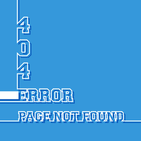 error message: Error 404. Page not found message. Vector illustration