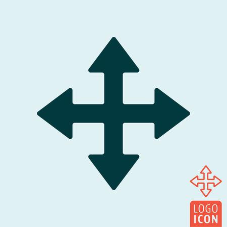 Cursor icon. Extend resize enlarge cursor vector illustration.