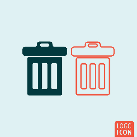 cesto basura: icono de la papelera. Papelera símbolo de la cesta. ilustración vectorial Vectores