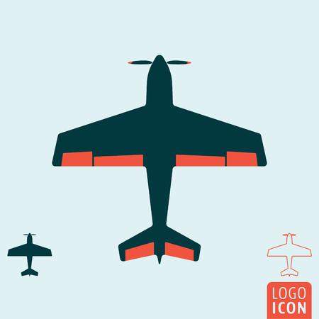 light aircraft: Plane icon. Light aircraft or sport airplane symbol. Vector illustration