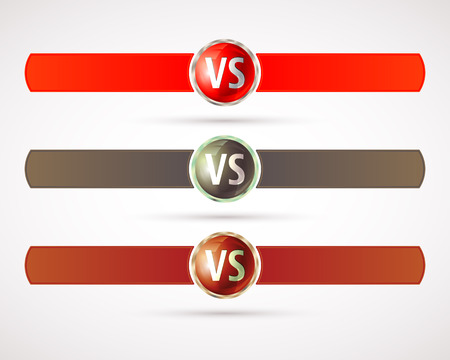 versus: Set of versus. VS letters. Fight competition symbol. Vector illustration.
