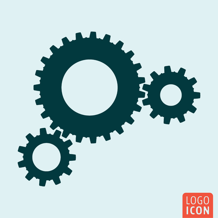 rackwheel: Gears icon. Cog wheels. Union, teamwork symbol Vector illustration