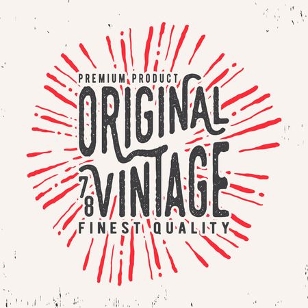 genuine good: T-shirt print design. Original vintage stamp. Printing and badge applique label t-shirts, jeans, casual wear. Vector illustration. Illustration