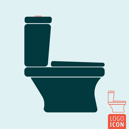water closet: Toilet bowl icon isolated. Water closet symbol. Vector illustration.